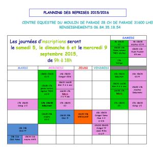 Planning 2015-2016